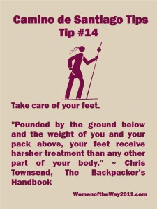 Tip Number 14: Take care of your feet