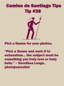 Camino Tips 38: Pick a theme for your photos